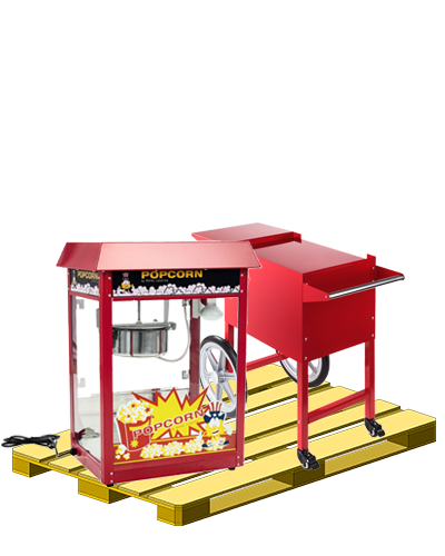 Popcornmaschine Palette