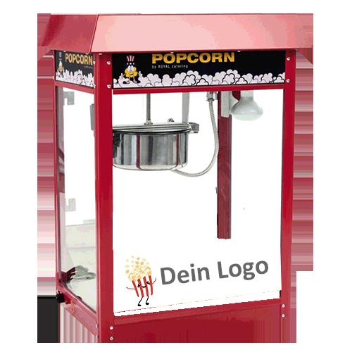 popcornmaschine rot mit branding