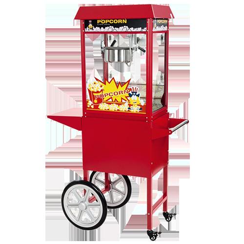 popcornmaschine rot mit wagen