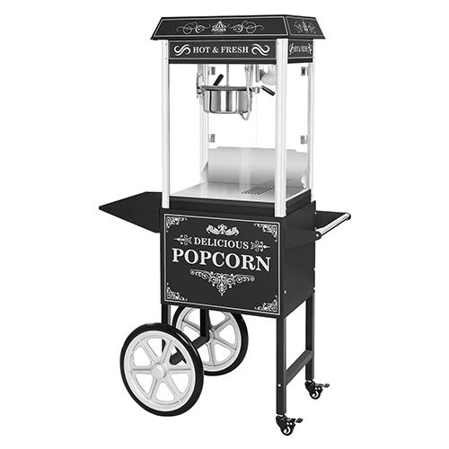 popcornmaschine schwarz mit wagen